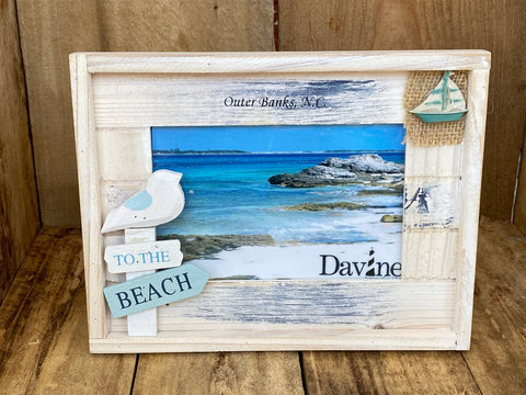 """To The Beach"" Picture Frame"