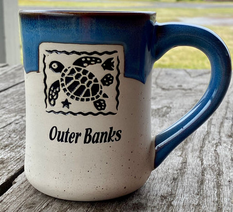 Outer Banks Coffee Mug with Turtle