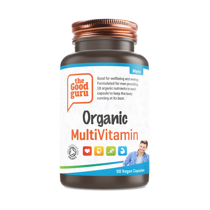 The Good Guru Mens Organic MultiVitamin - 90 Caps