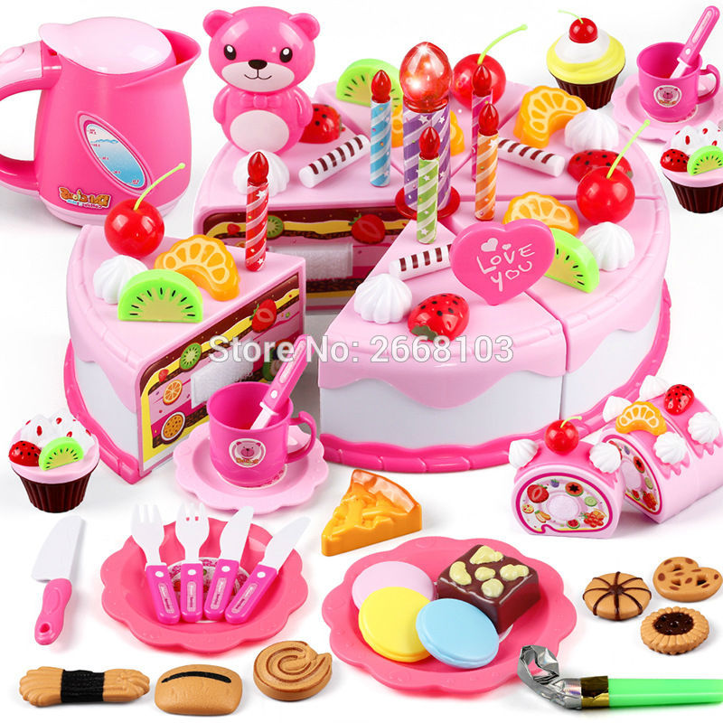 37-80PCS 3D Puzzle Toy Food Kitchen for children