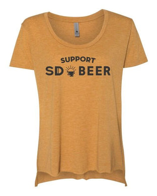 Support SD Beer Tee | YELLOW