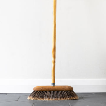 split horsehair indoor broom