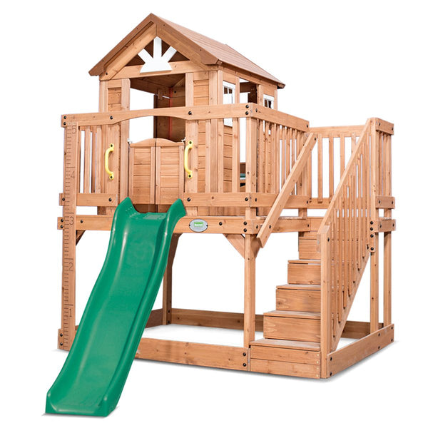 Backyard Discovery Scenic Heights Cubby House with 1.8m Slide