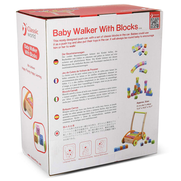 Baby Walker with Blocks by Classic World