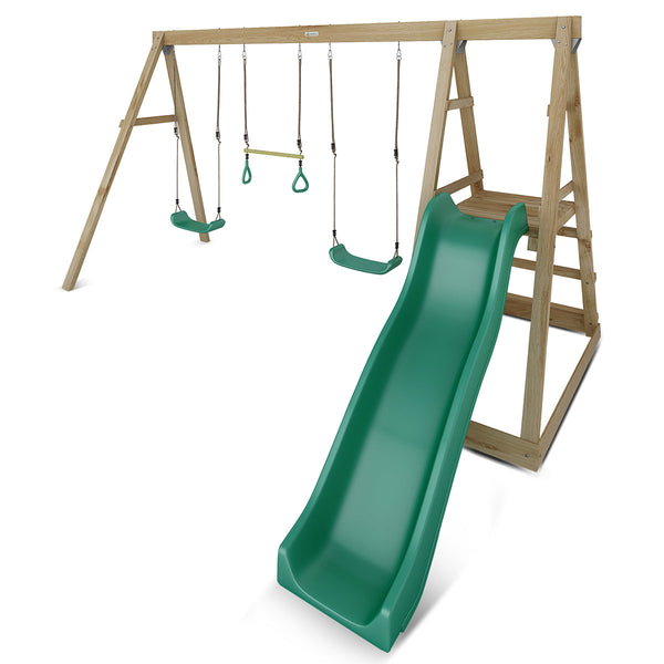 Winston 4-Station Timber Swing Set with Slide