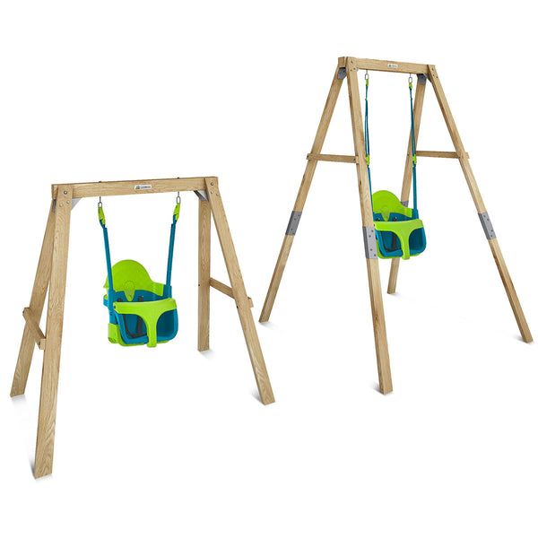 Bloom Growable Swing Set with Quadpod® Baby Swing Seat