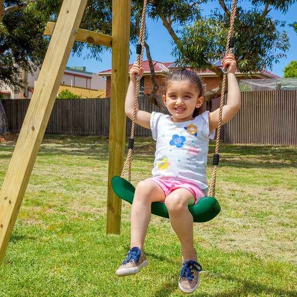 Holt 2-Station Timber Swing Set