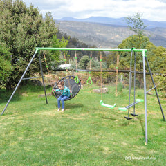 Lynx Metal Swing Set with Slide
