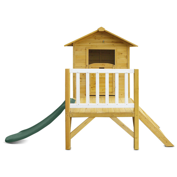 Wallaby 2 Cubby House with Green Slide