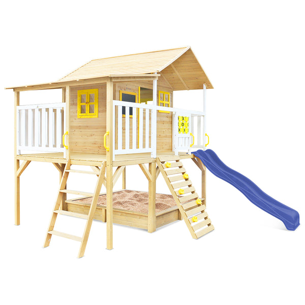 Warrigal Cubby House with Pergola (Blue Slide)