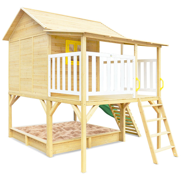 Warrigal Cubby House with Pergola (Green Slide)