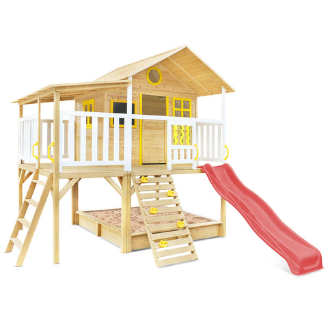 Warrigal Cubby House with Pergola (Red Slide)