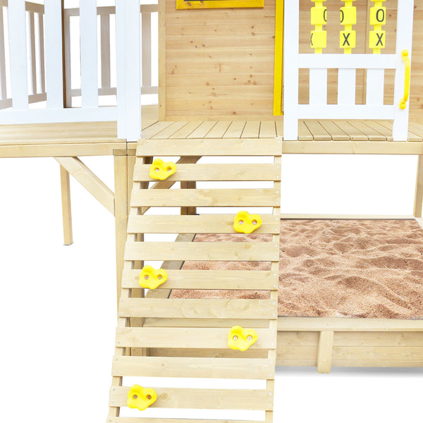 Warrigal Cubby House with Pergola (Yellow Slide)