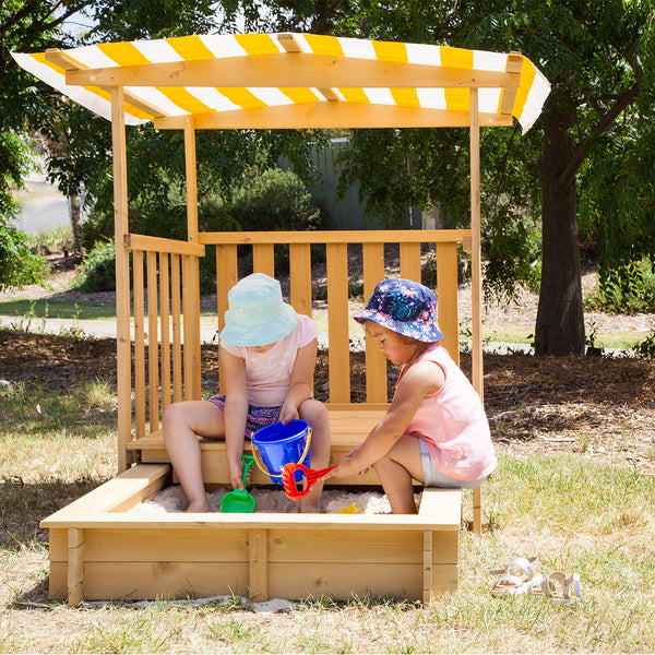 Jack Sandpit with Canopy on Wheels
