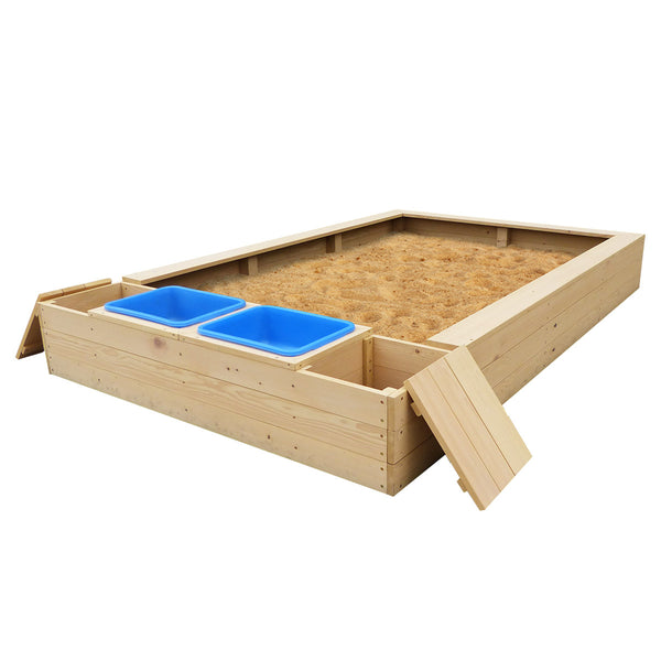 Mighty Sandpit with Wooden Cover
