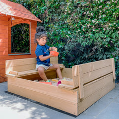 Strongbox 2 Square Sandpit