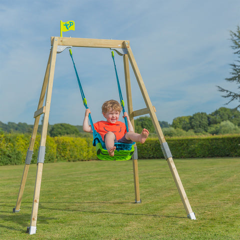 TP Forest Acorn Growable Swing Set with Quadpod® Baby Swing Seat