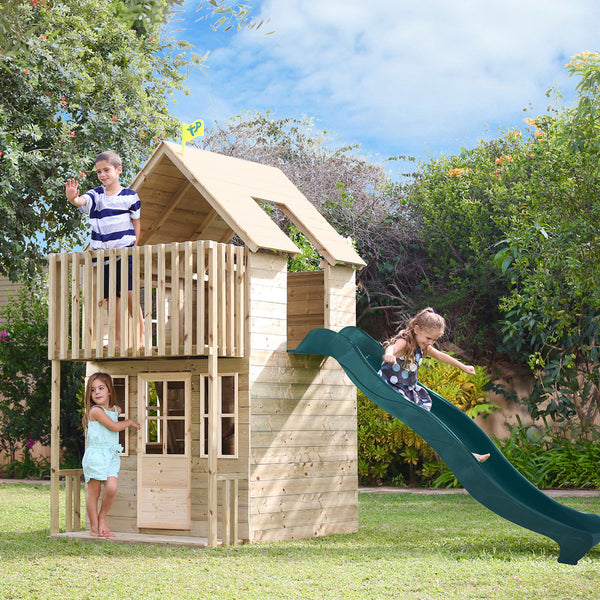 TP Loft House Cubby House with Slide