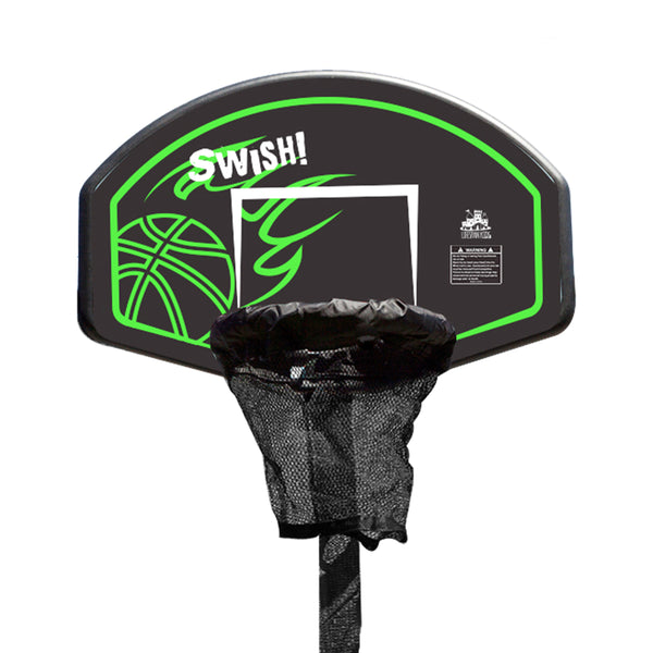 Swish Trampoline Basketball Ring with Metal Swing Set Adaptor