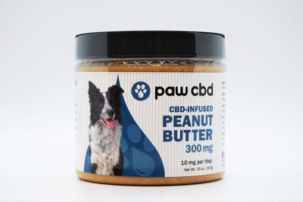 Paw CBD 300mg CBD-Infused Peanut Butter