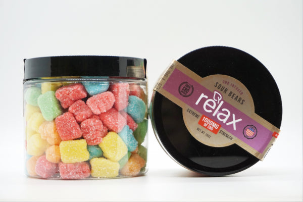 Relax Sour Gummy Bears 1000mg