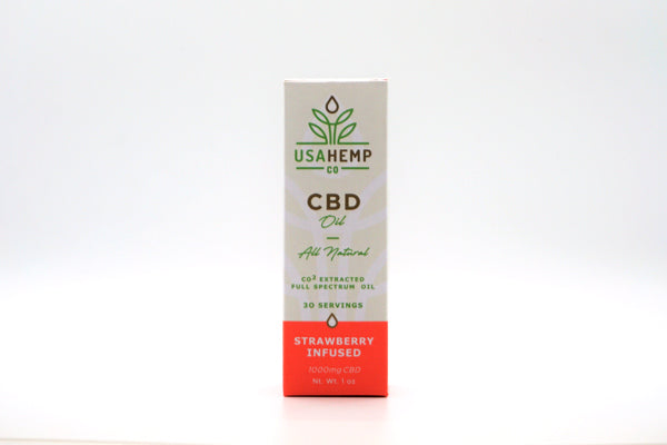 Strawberry Infused CBD Oil 1000mg