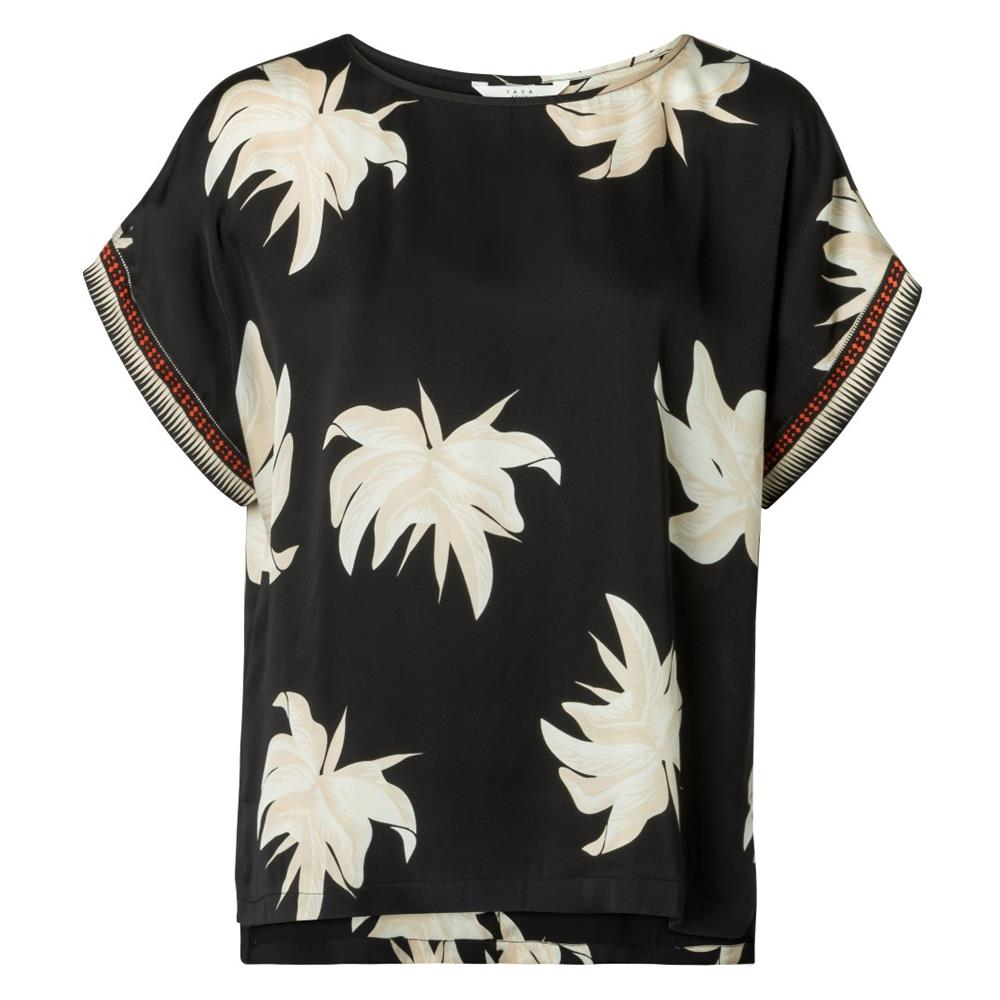 Flower Print Round Neck Top