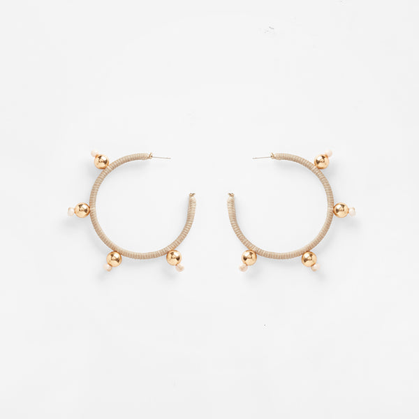 Ouroboros Earrings | Beige Large