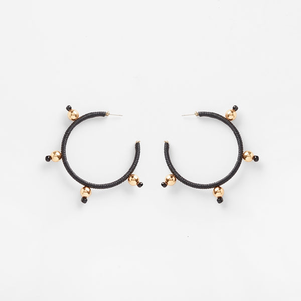Ouroboros Earrings | Black Large