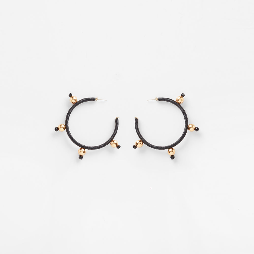 Ouroboros Earrings | Black Medium