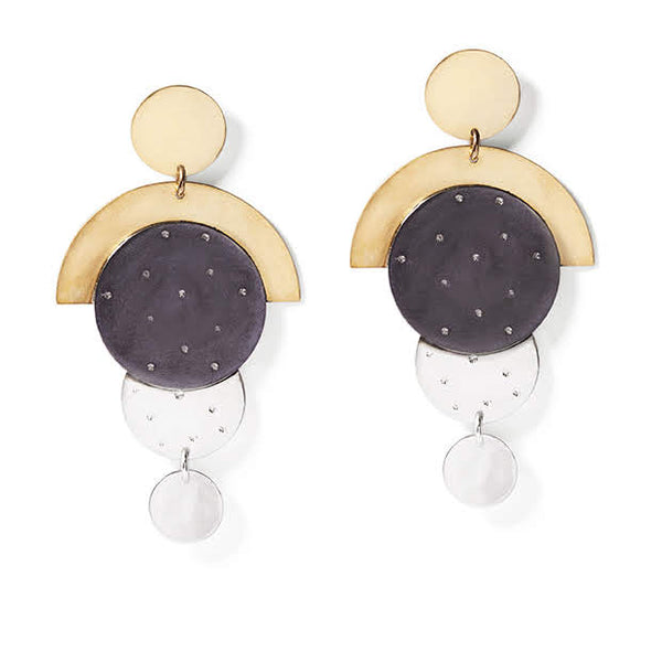 Art Deco Disc Earrings