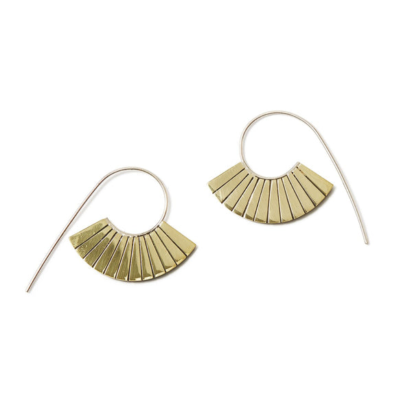 Art Deco Fan Hoops