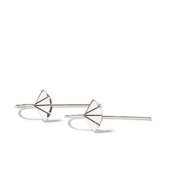 Art Deco Fan Drop Earrings