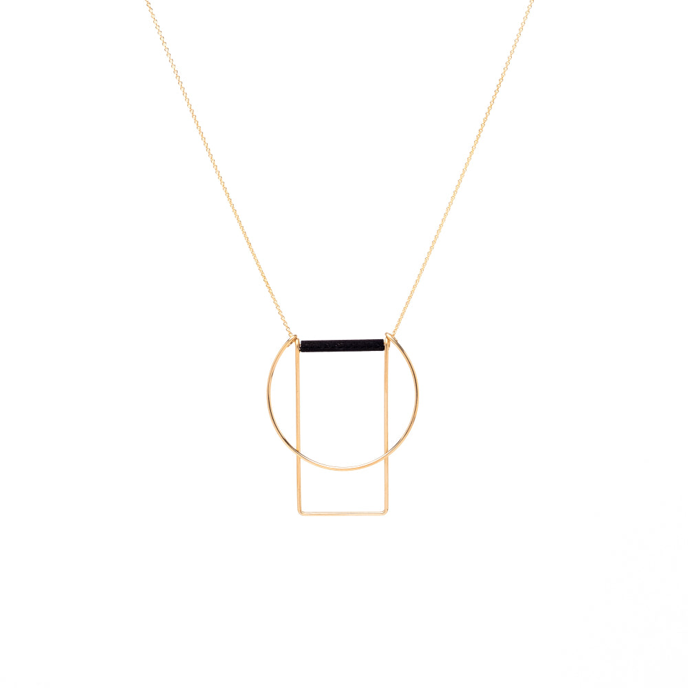 Necklace Circle Rectangle