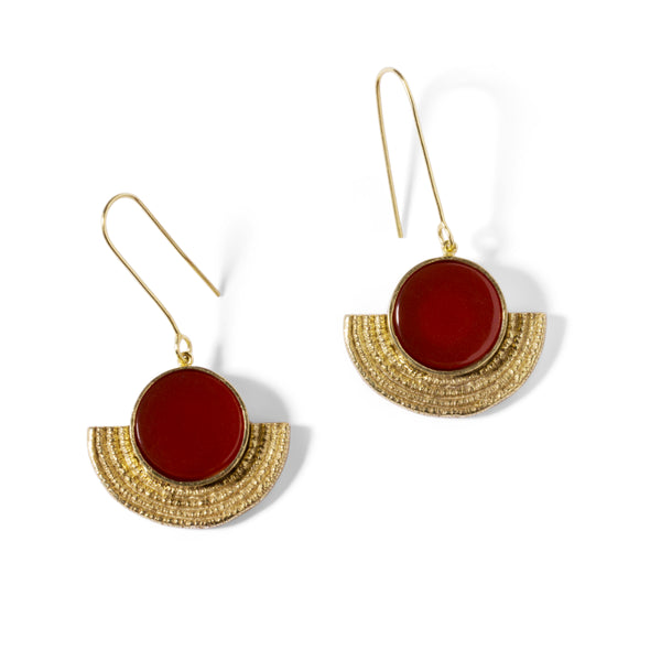 Basket Earrings Carnelian