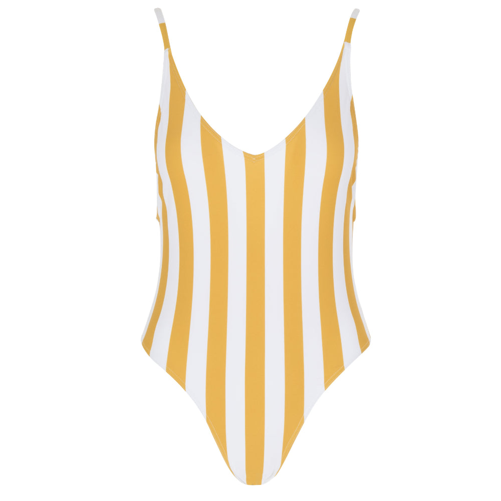 Clifton One Piece Swimsuit | Sunshine Stripe