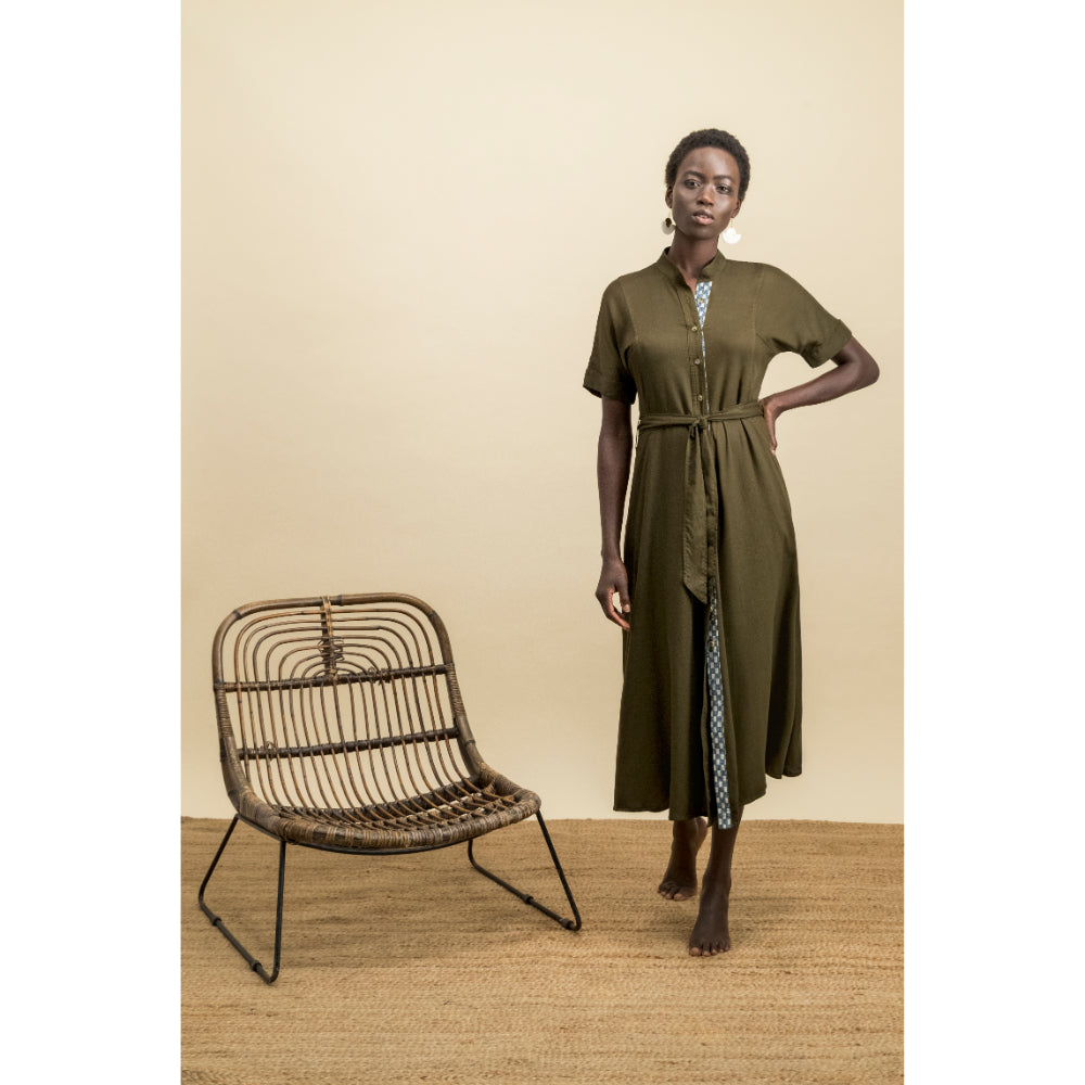 Bibi Dress | Khaki Green
