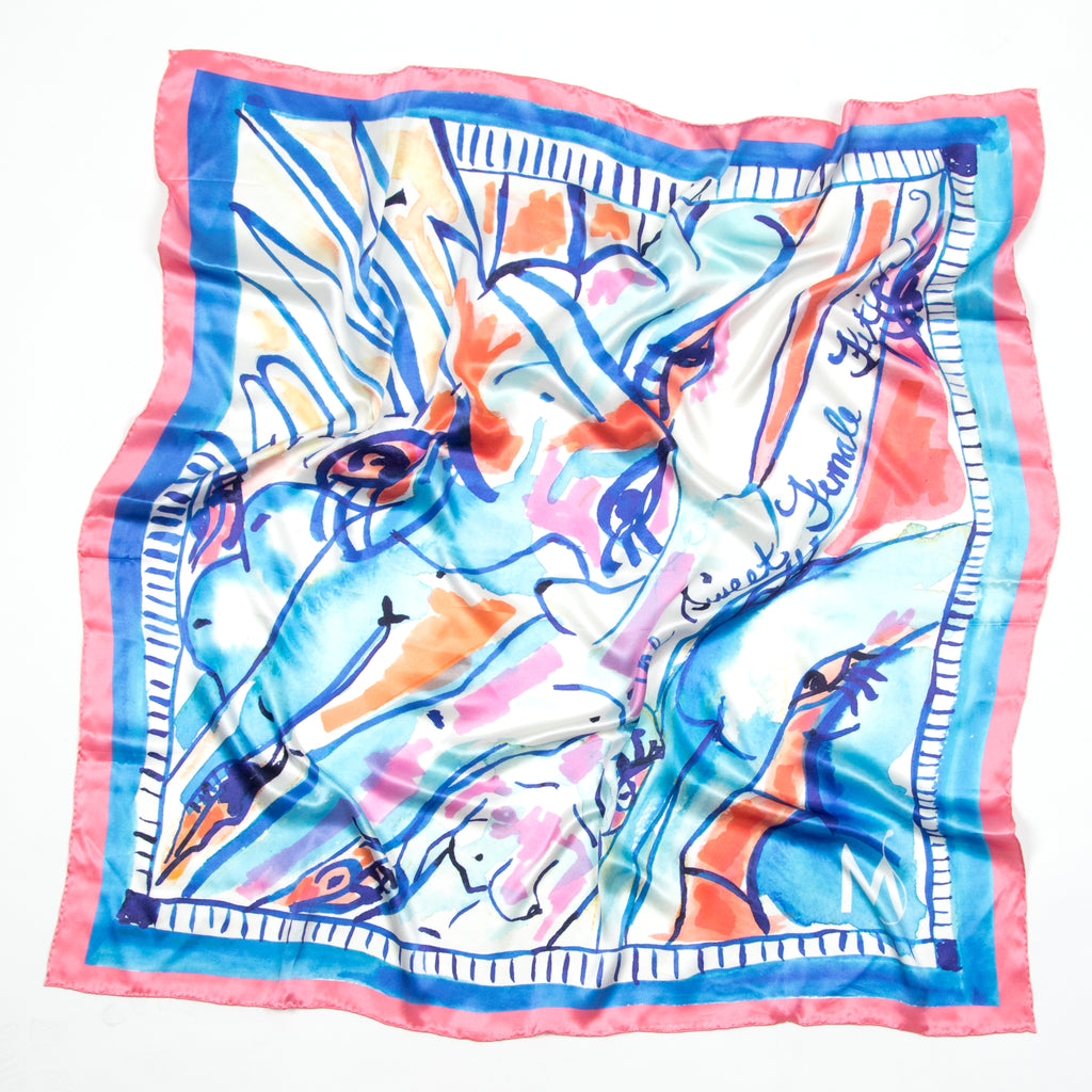 Female Fetish Silk Scarf
