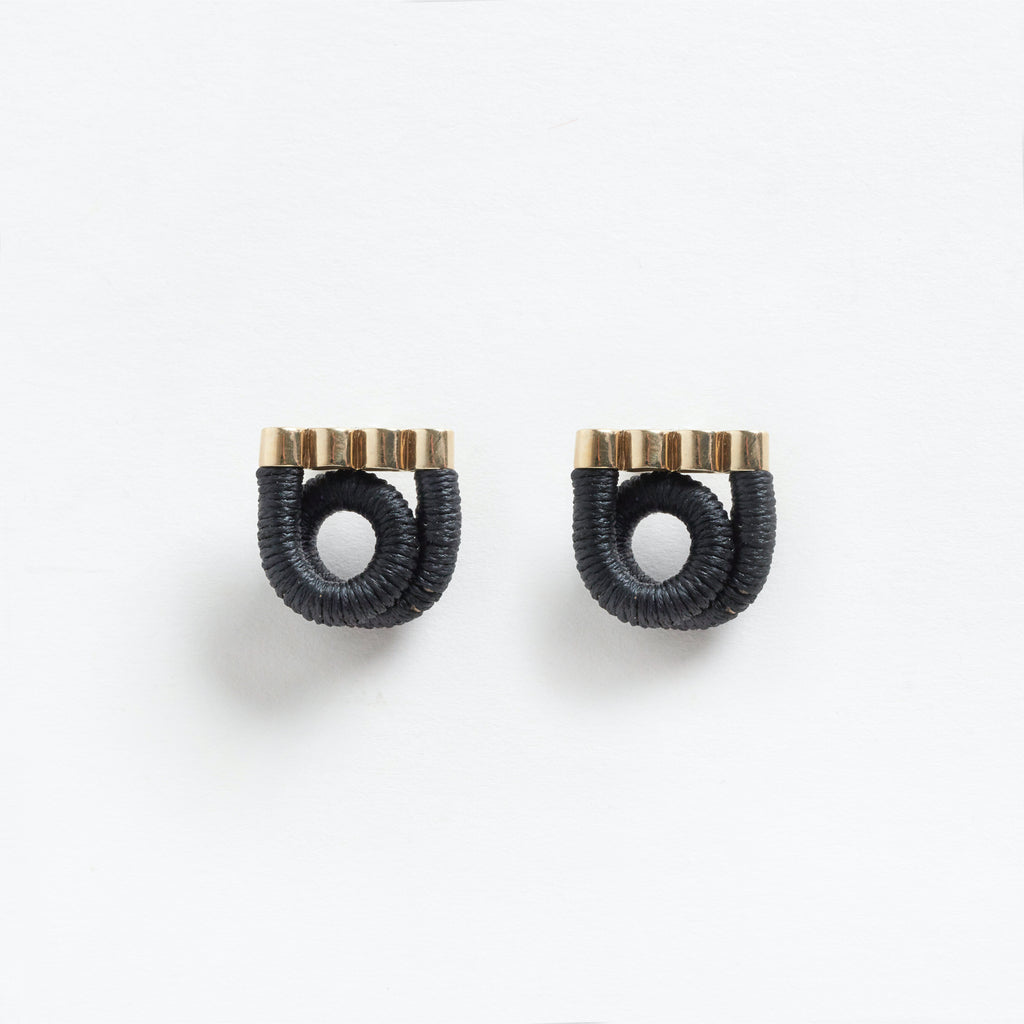 Hermes Earrings Black