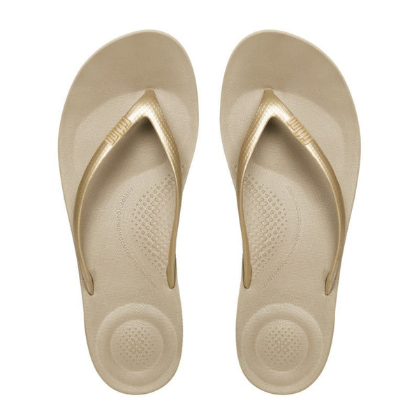 IQushion Flip Flops Gold