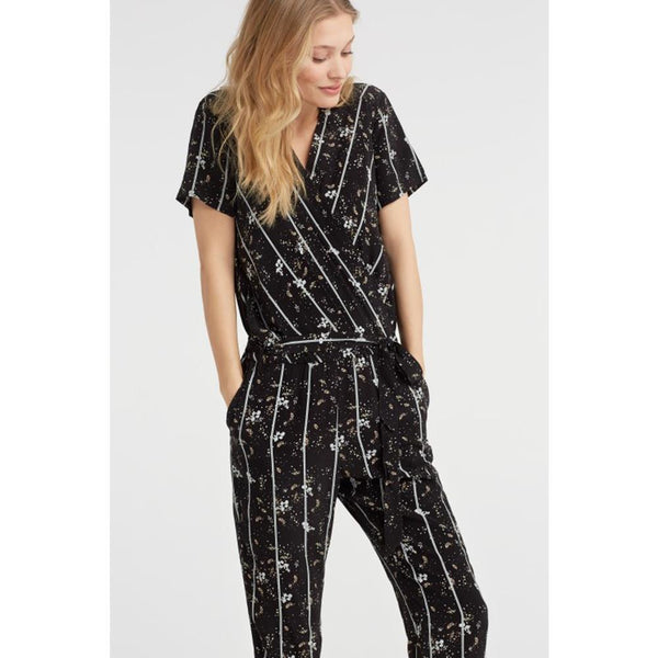 Flower & Stripes Jumpsuit