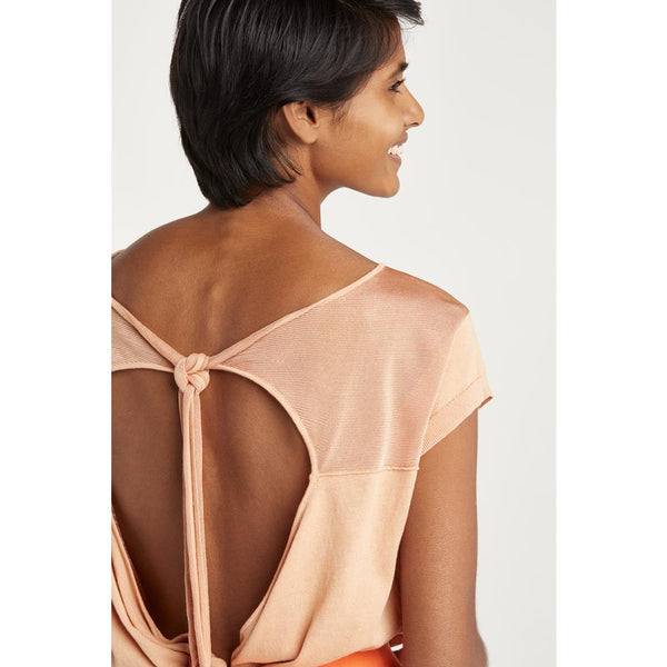 Shiny Knot Back Top