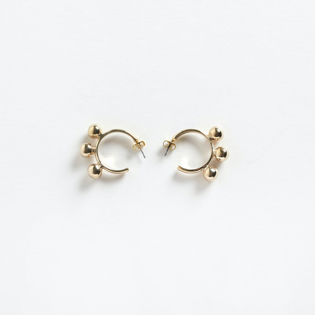 Samba Hoop Earrings Gold