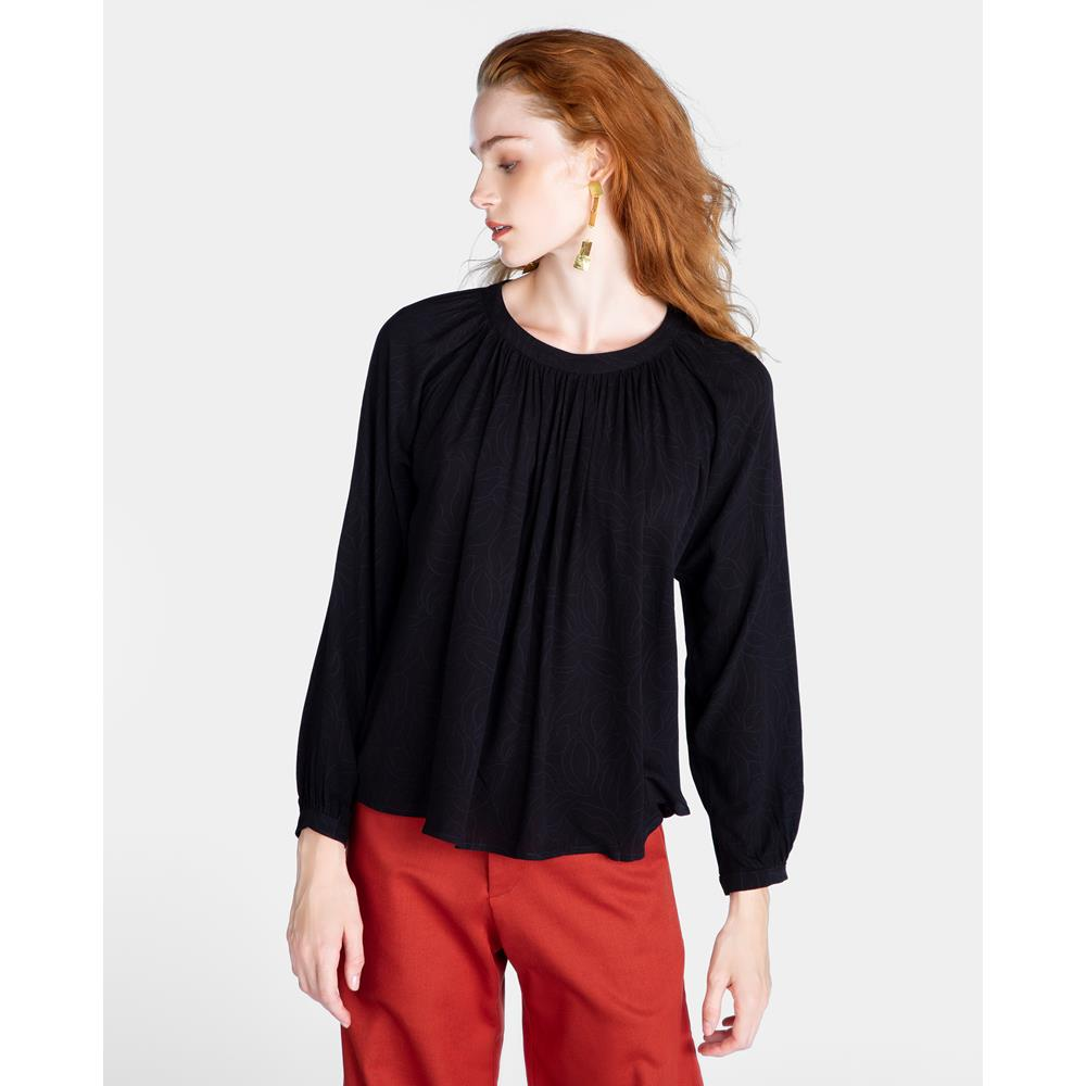 Cassia Gathered Neck Blouse