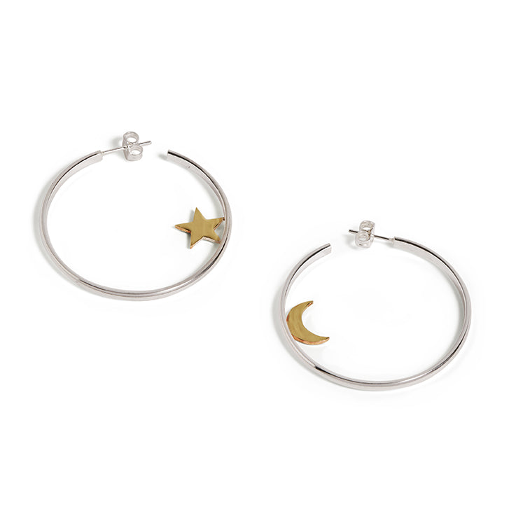 Star & Moon Hoops