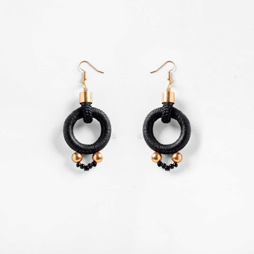 Alpha Earrings Black