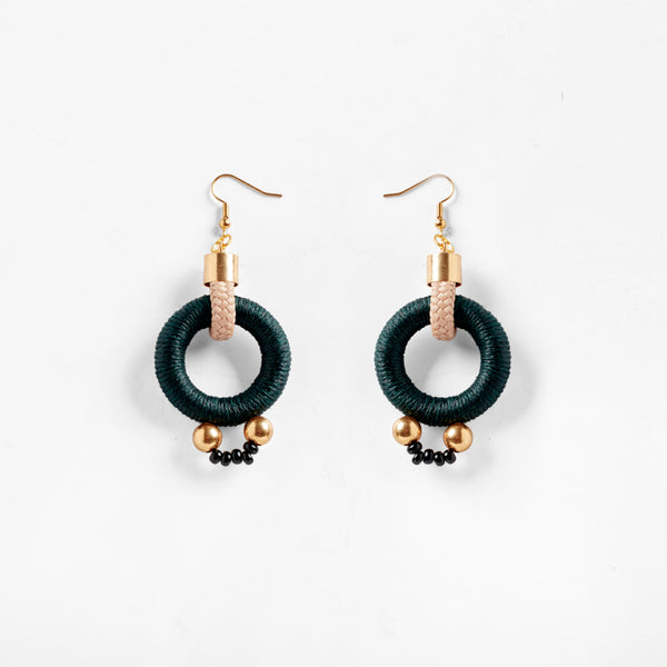 Alpha Earrings Green