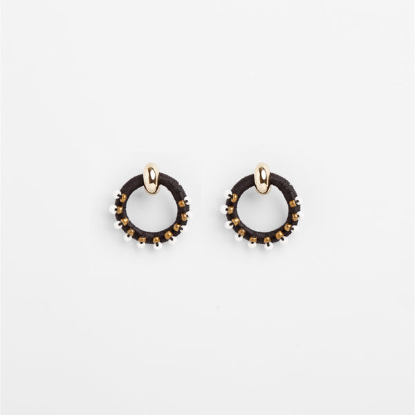 Beaded Magic Earrings Black S