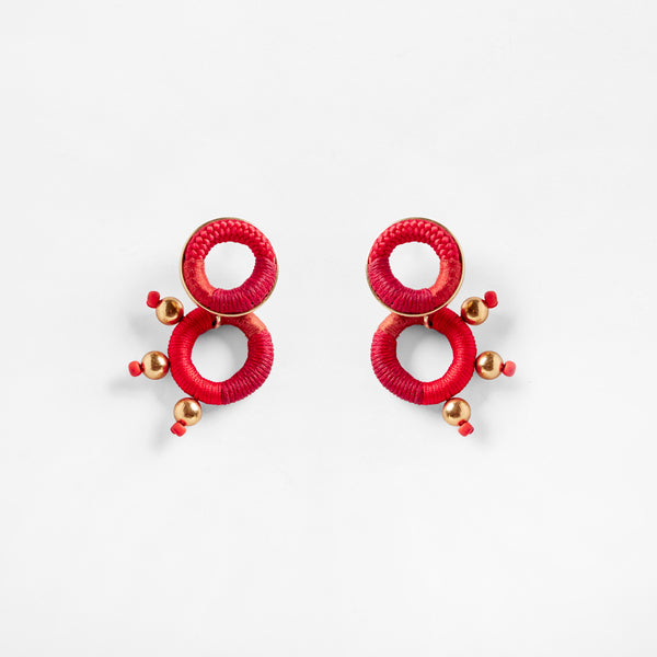 Dragon Earrings Red