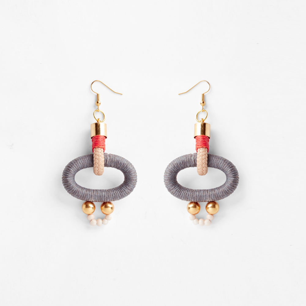 Gamma Earrings | Grey Orange